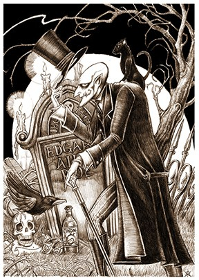 The Poe Toaster by EzekielCrowe
